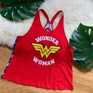 Wonder Woman❤️Red Blue Superhero Tank Top
